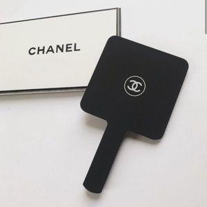 Chanel Handheld Mirror in Black Acrylic